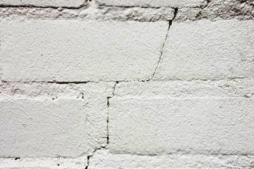 Foto van scheur in muur